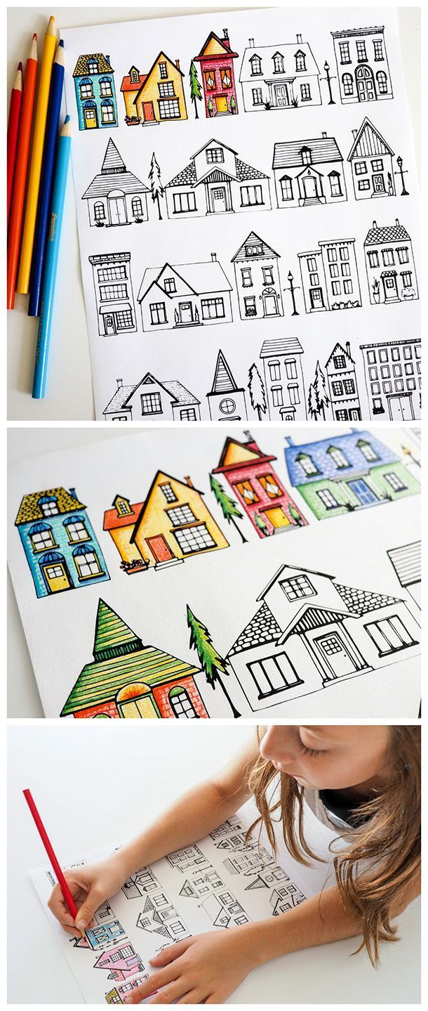 Printable coloring pages rooms house - Free Printable House Coloring Pages A Wonderful Resource For Teachers Homesch