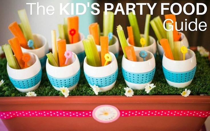 Kids party food guide. What to serve, how much of it, plus sample kids party menus. By Easy Breezy Parties