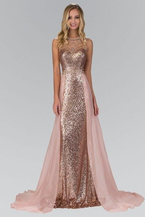 85e9e5b3d Shine like a star in Celebrity style prom dress with train. A fitted  sequins dresses