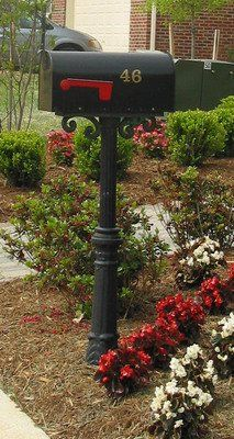 BAM Premier Curbside Mailbox w/Pedestal Scroll & Charleston base | Premier Curbside Mailboxes by Mid-Atlantic Mailbox| Residential Mailboxes | Mid-Atlantic Mailbox Inc.