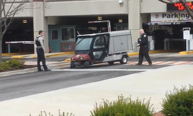Golf Cart With No Driver at Loyola University