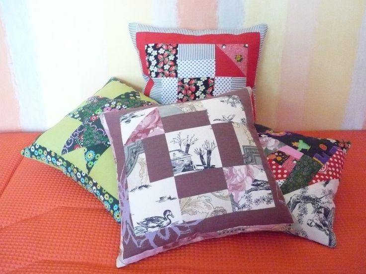 Four different pillowcases. Few years ago were made as gifts for my beloved relatives and friends. And they are still use it and enjoying!