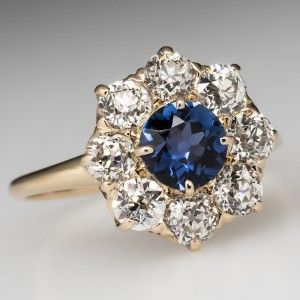 Victorian Engagement Rings 1900 Shire Ring W Diamond Halo