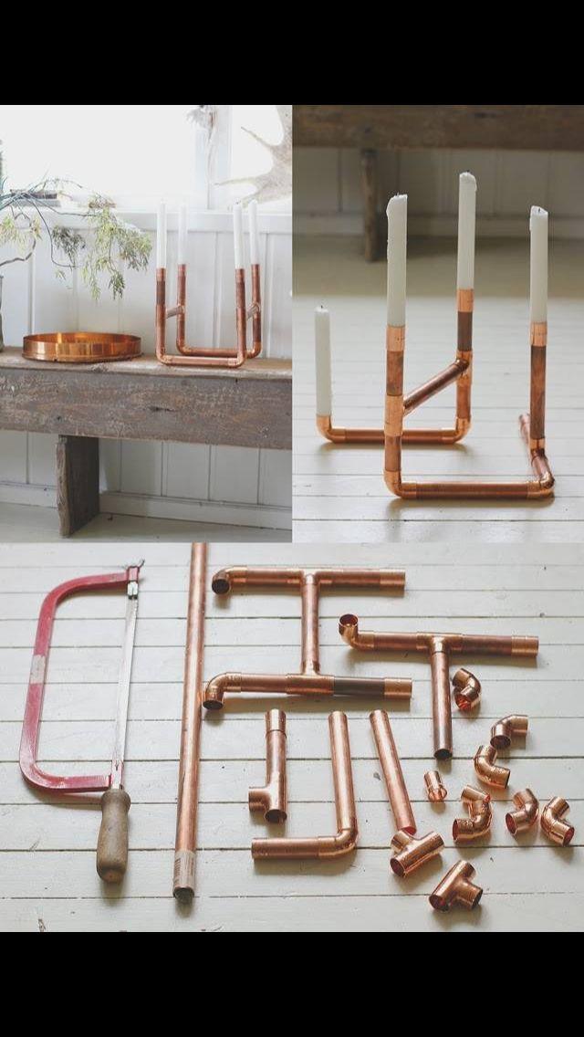 DIY Kerzenständer aus Kupferrohr