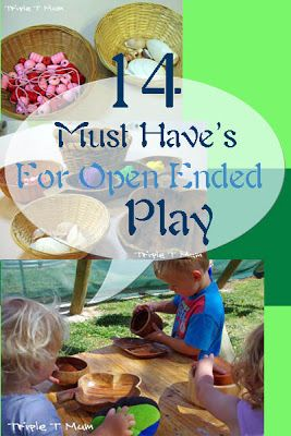 14 Open Ended Materials for Toddler Play lots of sand, water, sensory