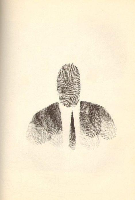 Saul Steinberg,  Fingerprint Man on ArtStack #saul-steinberg #art