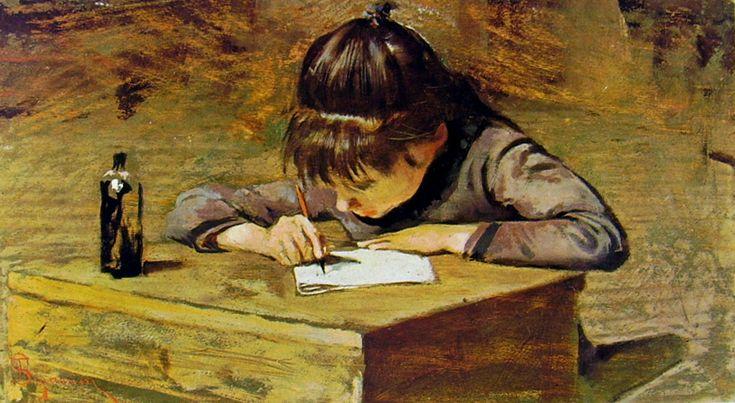Telemaco Signorini - Bambina che scrive.jpg (812×445)