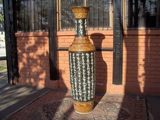 Jarrón Porcelana Pintado a Mano 180 cm (Aprox) / JPPM-180CM www.chileremates.cl