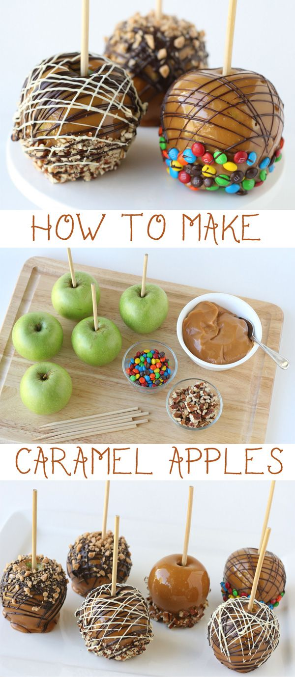 Few desserts are more closely associated with fall than caramel apples.  Tart, crisp apples and sweet, chewy caramel make such a delicious pair!  These classic fall treats are quite easy to make, and yield impressive results.  Dress up your caramel apples with chocolate, nuts, or small candies to create an extra beautiful and decadent dessert. ~ How to make caramel …