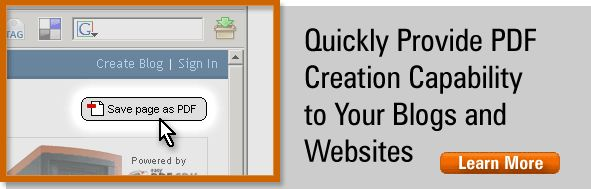 Web2PDF Online Widget: Quickly Provide PDF Creation Capability to your blogs and websites, converting HTML to PDF.