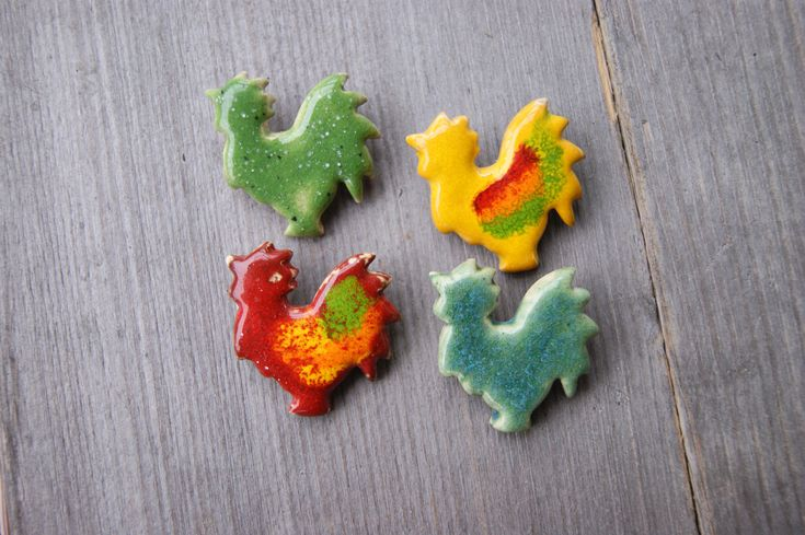 Excited to share the latest addition to my #etsy shop: Tiny rooster brooch, ceramic rooster, cockerel, farm brooch, Red rooster, Green rooster, Yellow rooster, cockerel brooch, colorful cockerel http://etsy.me/2n3BShH #jewelry #brooch #bridalshower #easter #green #unis