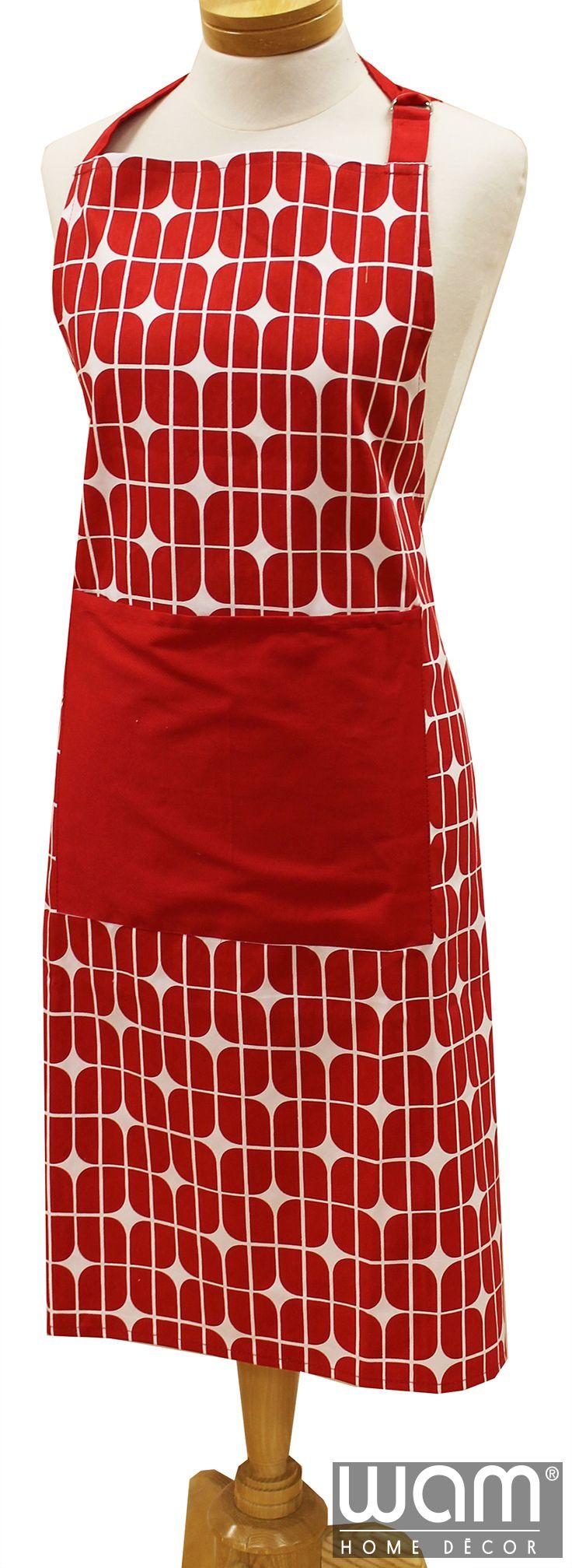 Geo Square Red Apron http://wamhomedecor.com.au/index.php/geo-square-apron-red-standard-apron.html