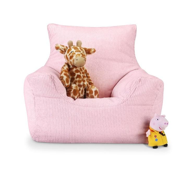 Girls Pink Cord Toddler Chair Childrens bean bag chair