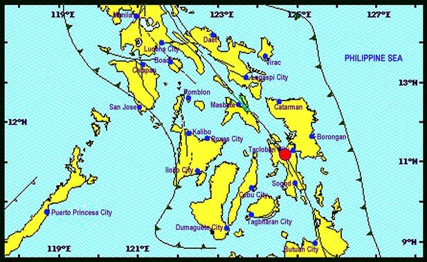 6.5-magnitude quake hits Leyte A powerful 6.5 earthquake rattled the central Philippines Thursday according to the United States Geological Survey revising an earlier figure of 6.9.