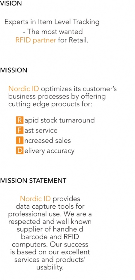 Nordic ID Vision, Mission and the Mission Statement! :)
