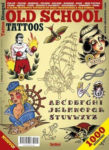イタリア直輸入 オールドスクール OLD SCHOOL アメリカン タトゥーデザイン本 - タトゥー用品通販ショップ PINK TATTOO(ピンクタトゥー)