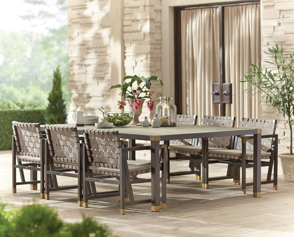 Brown Jordan Form 84 In. Rectangular Patio Dining Table      The Home Depot