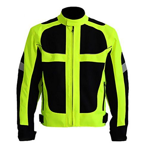 Men's Summer Motorcycle Jacket Motocross Racing Protective Gear Fluorescent Green Reflective Safety Clothing (M). For product info go to:  https://www.caraccessoriesonlinemarket.com/mens-summer-motorcycle-jacket-motocross-racing-protective-gear-fluorescent-green-reflective-safety-clothing-m/