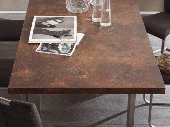 Stone Esszimmertisch Rost Optik 260x100 Qualtiats Mobel Mca Furniture Die Basics Gestell U Form Edelstahl Geburstet Esstisch Esszimmertisch Esstisch Modern