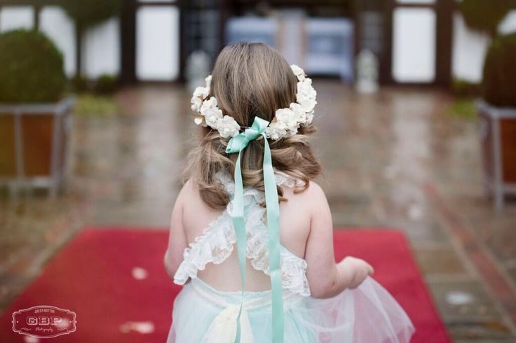 Bespoke handcrafted flower crown from Lilly Dilly's #wedding #flower-girl #bridesmaid #flower #crown #bespoke #handcrafted #Lilly Dilly's #mint green #ivory #alternative
