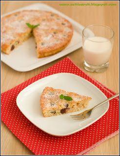 Sütisarok: Zabpelyhes cseresznyés pite
