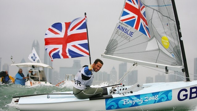 """The """"three-times Olympic gold medallist Ben Ainslie [sailing] will be the first Torchbearer to carry the Olympic Flame in the UK."""""""