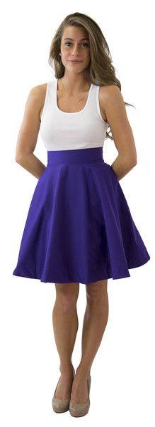 Sydney Skirt- Royal Purple- Cotton Sateen – Frill Clothing