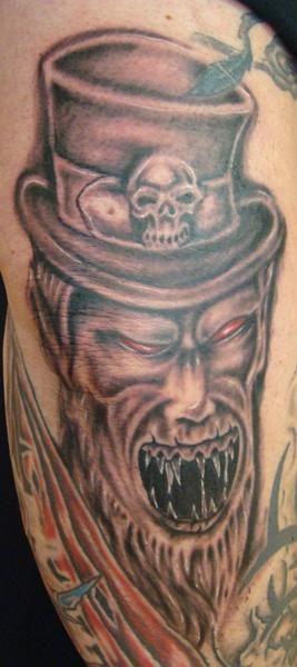 zombie leprechaun in black and grey.......www.talesofthetatt.com