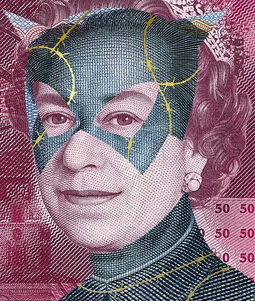 Des superhéros sur des billets de banque