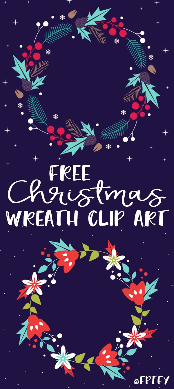 Free Christmas Wreath Clip Art! - Free Pretty Things For You