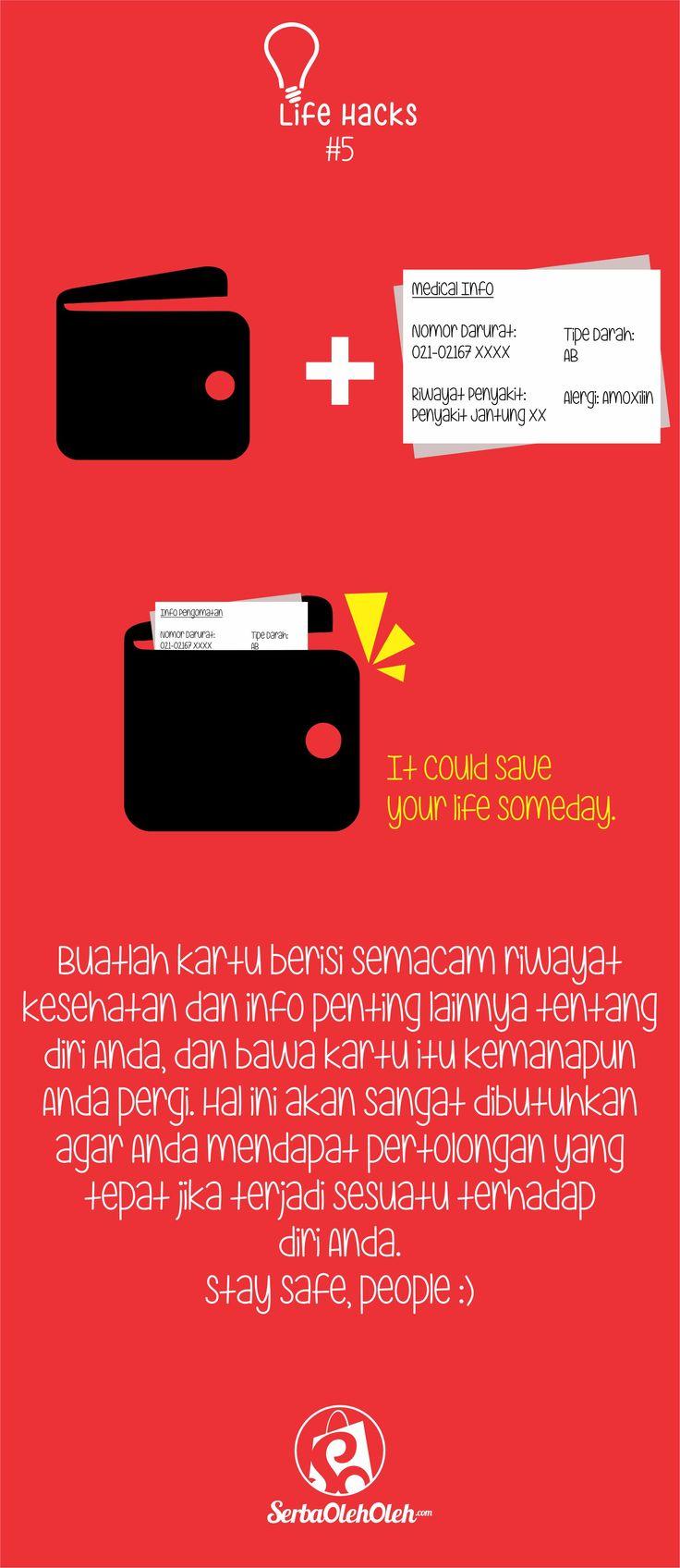 Selamat Pagi! Selamat hari Senin CERIAAA! Kali ini admin akan berbagi tips untuk keamanan pada diri kita.  Stay safe, people :)  Jangan lupa juga ya untuk kunjungi http://serbaoleholeh.com/ website jual beli oleh-oleh dan barang khas paling kece :) #lifehacks #infografis #infographic