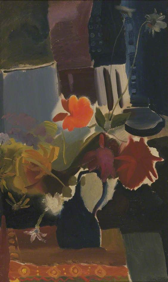 August Flowers, 1943 by Ivon Hitchens (British 1893-1979)