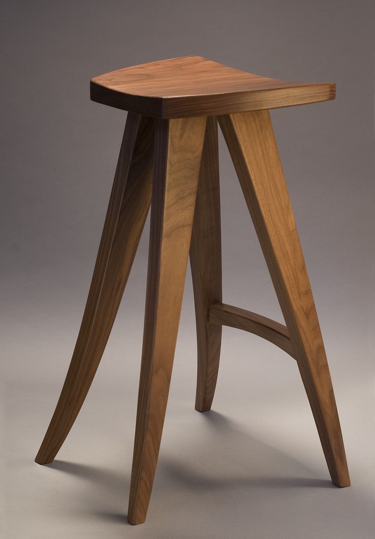 hand crafted wood barstool or computer stool walnut made in custom sizes by Seth Rolland fine furniture design & 710 best Stools images on Pinterest | Chairs Furniture ideas and ... islam-shia.org