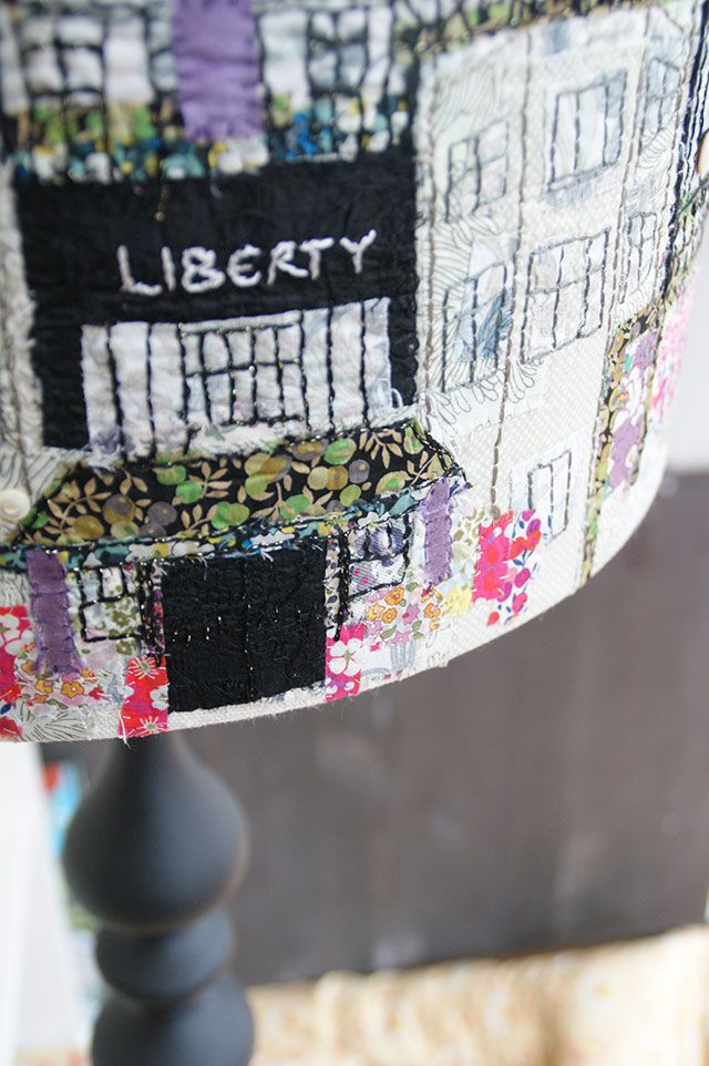 Liberty hand stitched lampshade (www.marnalunt.co.uk) | Marna Lunt
