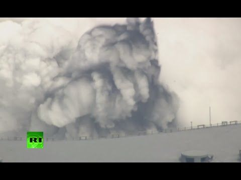 Japan's largest volcano Mount Aso erupts, shooting ash & billowing smoke...