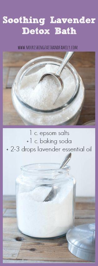 Soothing Lavender Detox Bath via Nourishing Faith and Family