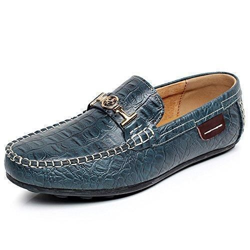 Oferta: 32.5€ Dto: -50%. Comprar Ofertas de Shenn Hombres Azul Marino Piel de Cocodrilo Zapatos de Negocio Ponerse Holgazanes de Conducción 1314 EU41 barato. ¡Mira las ofertas!
