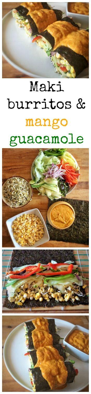 Maki burritos & mango guacamole #vegan #raw #glutenfree
