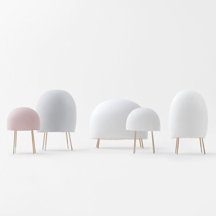 N=N/03 paper ice cream lamp with Foscarini and Taniguchi | Aoya Washi