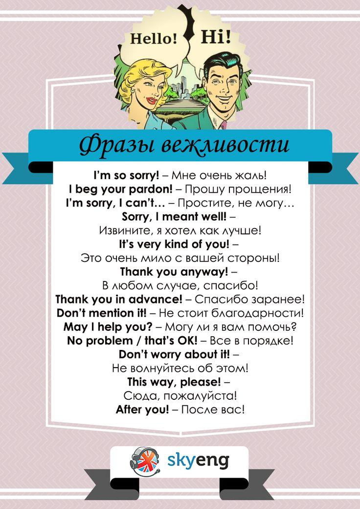 Английские фразы вежливости