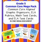 WOW! What a value in one large 160  page mega pack! Grade 5 Common Core aligned ELA rubrics for EVERY Literature and Informational Text standard, C...