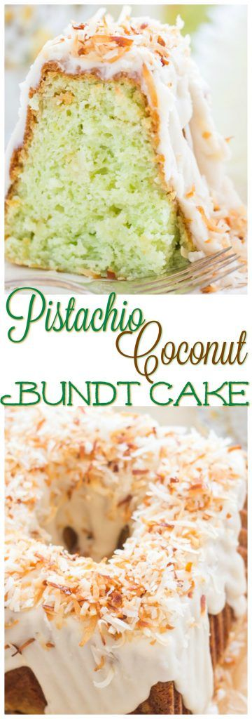 This Coconut Pistachio Bundt Cake is unbelievably moist and tender! You'll fall in love with this flavor combination.