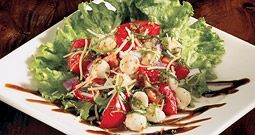 bj's brewhouse mozzarella & tomato salad; i'll be creating my own rendition soon.
