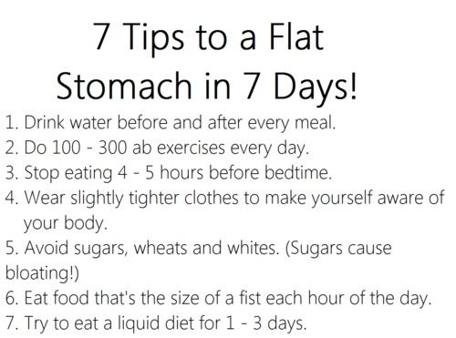 Flat Belly In 3 Days