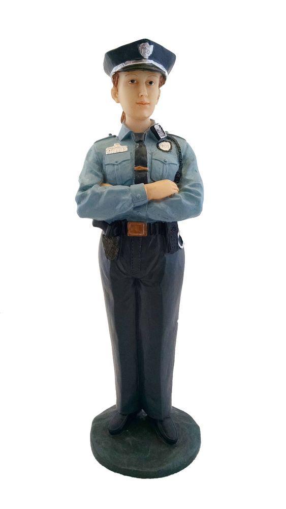 "8.5"" Statue of Police Woman Officer Figure Figurine Home Decor Female | Decor, Home and Home decor"