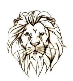 lion head outline tattoo - Google Search