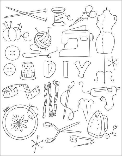 Great Crafty Stitchery template