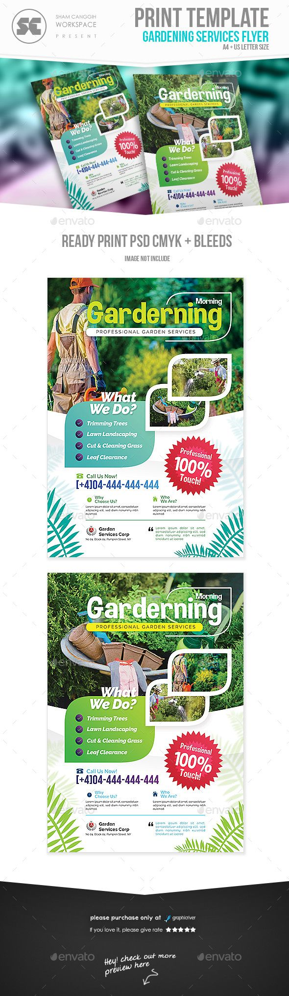Garden Services Flyer Template PSD