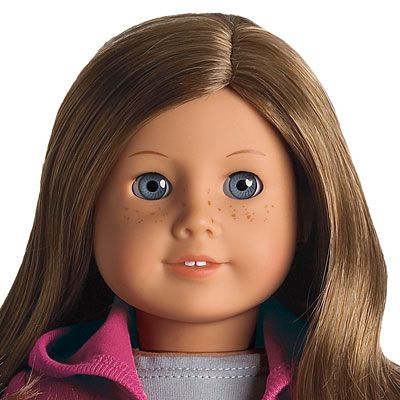 american girl doll just like you brown hair blue eyes ...