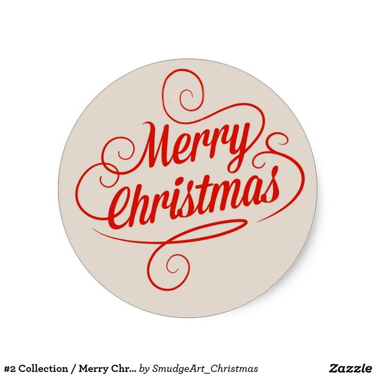 #2 Collection / Merry Christmas Classic Round Sticker